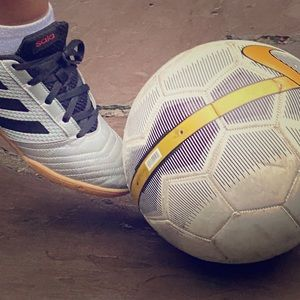 Indoor soccer shoes!